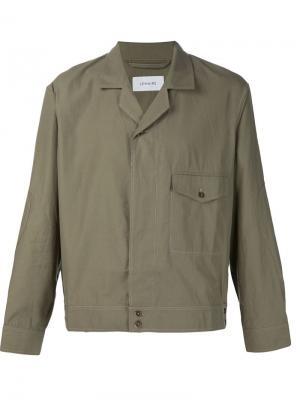 Куртка-рубашка с нагрудным карманом Lemaire. Цвет: зелёный