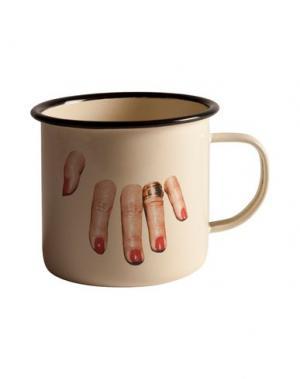 Для чая и кофе SELETTI WEARS TOILETPAPER. Цвет: слоновая кость