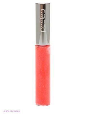 Блеск для губ Сверкающий лотос, тон 29 POETEQ. Цвет: оранжевый