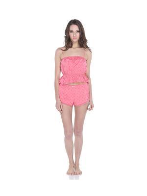 Пижама с шортами Tenerezza. Цвет: розовый