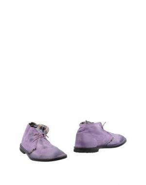 Полусапоги и высокие ботинки LE CROWN. Цвет: фиолетовый