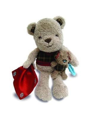 Музыкальная игрушка медвежонок и щенок Little Bird Told Me. Цвет: коричневый