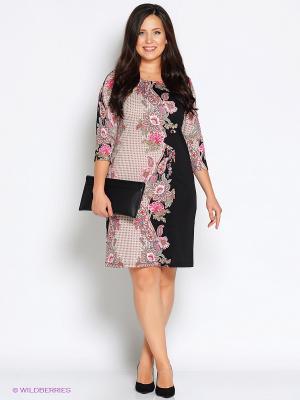 Платье Битис. Цвет: черный, фуксия