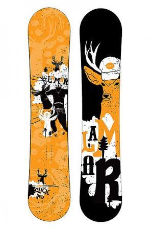 Сноуборд  Click Anti Cam Sidewall Lamar. Цвет: коричневый