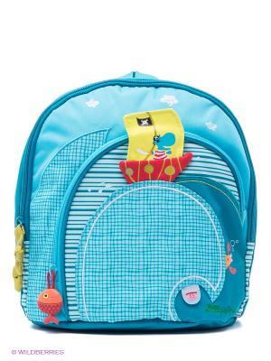 Рюкзак Lilliputiens. Цвет: бирюзовый, красный, желтый