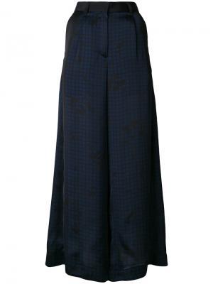 Полупрозрачные брюки-палаццо Sacai. Цвет: чёрный