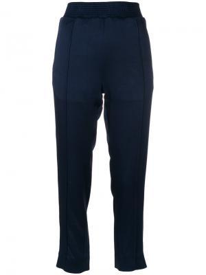 Эластичные укороченные брюки Haider Ackermann. Цвет: синий
