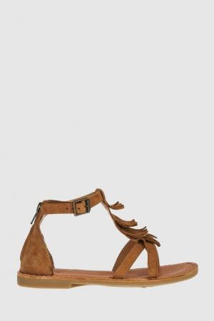 Замшевые сандалии Shwik. Цвет: коричневый