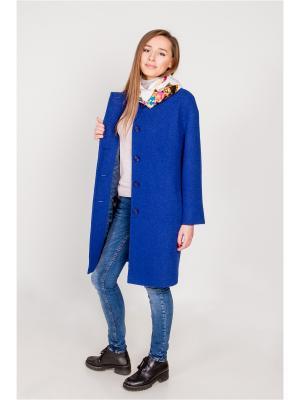 Пальто Марка Котовых. Цвет: синий