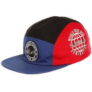 Бейсболка с прямым козырьком  Forever Team Snap Blue The Hundreds. Цвет: синий,красный,черный