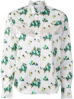 Рубашка с цветочным принтом Toga. Цвет: белый