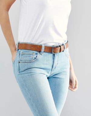 ASOS Коричневый ремень под джинсы в винтажном стиле. Цвет: коричневый