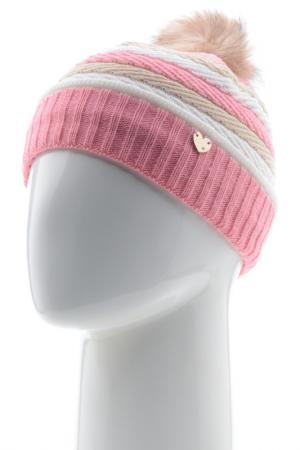 Шапка Vittorio Richi. Цвет: белый, бежевый, розовый