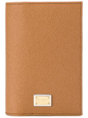Бумажник Dolce & Gabbana. Цвет: телесный