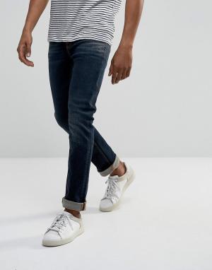 Nudie Jeans Выбеленные узкие джинсы цвета индиго Co Grim Tim. Цвет: синий