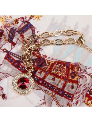 73021 Набор подарочный, Платок+браслет Venuse. Цвет: бордовый, белый