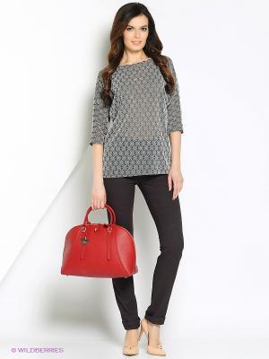 Блуза PALLARI. Цвет: серо-коричневый