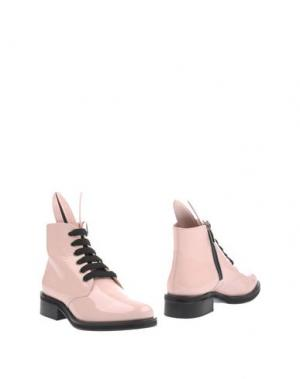 Полусапоги и высокие ботинки MINNA PARIKKA. Цвет: светло-розовый