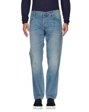 Джинсовые брюки ZERO. Цвет: синий