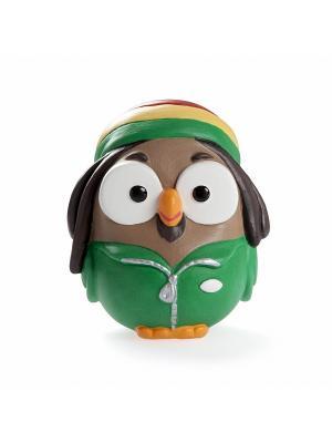 Керамическая статуэтка сова Боб Марли, Goofi. Цвет: зеленый, темно-зеленый, хаки