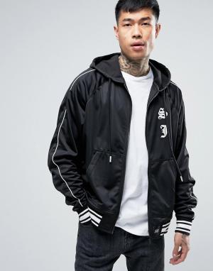 Sixth June Атласная спортивная куртка. Цвет: черный