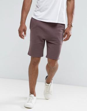 ASOS Коричневые трикотажные шорты скинни. Цвет: коричневый