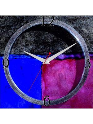 Картина с часовым механизмом ДСТ. Цвет: серый, красный, синий