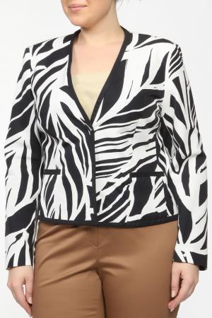 Пиджак Elena Miro. Цвет: белый, синий, принт