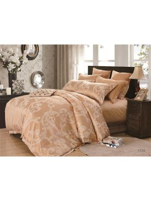 Комплект постельного белья евро Dream time. Цвет: оранжевый