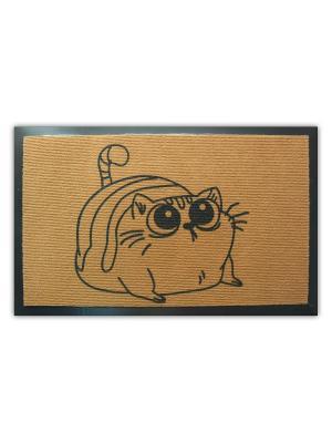 Коврик придверный Пожалей котика MoiKovrik. Цвет: бежевый