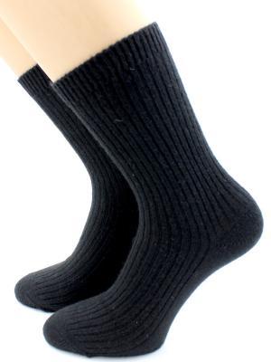 Носки шерстяные HOBBY LINE. Цвет: черный
