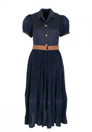 Платье NOLO. Цвет: синий