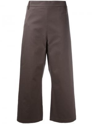 Укороченные широкие брюки Ter Et Bantine. Цвет: коричневый