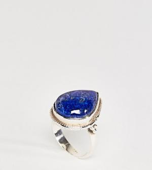 Rock 'N' Rose Серебряное кольцо с лазуритом N Ellen. Цвет: серебряный