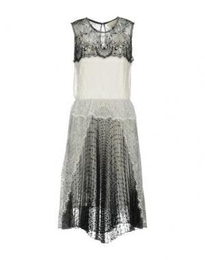 Платье до колена LOYD/FORD. Цвет: белый