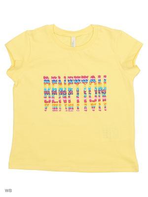 Футболка United Colors of Benetton. Цвет: желтый
