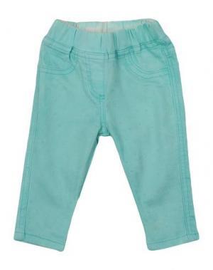 Джинсовые брюки MONNALISA BEBE'. Цвет: бирюзовый