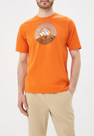 Футболка Columbia. Цвет: оранжевый