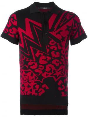 Жаккардовая футболка-поло Grandmaster Flash Sibling. Цвет: чёрный