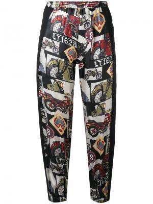 Укороченные брюки с комбинированным принтом Hache. Цвет: многоцветный