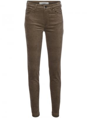 Облегающие бархатные брюки D.Exterior. Цвет: коричневый