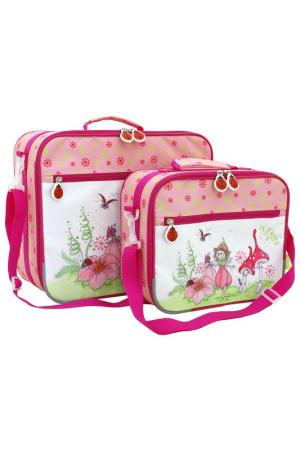 Детский чемодан TOITO WEAR. Цвет: розовый