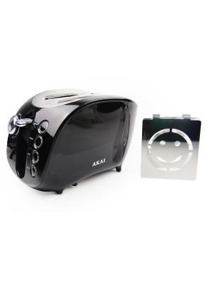 Тостер со смайликом AKAI. Цвет: черный