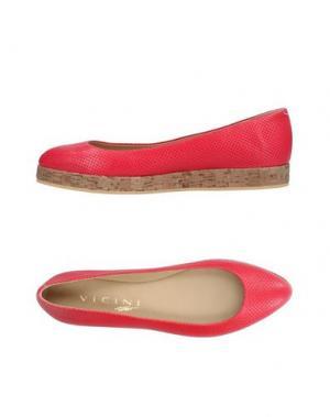 Туфли VICINI TAPEET. Цвет: коралловый