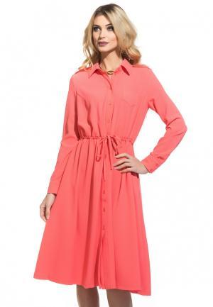 Платье Gloss. Цвет: коралловый