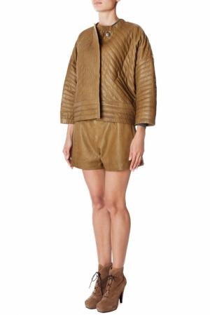 Кожаные шорты Isabel Marant. Цвет: коричневый