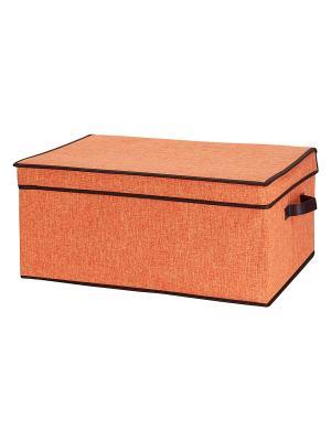 Кофр складной для хранения Оранжевый EL CASA. Цвет: оранжевый
