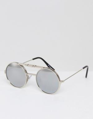 Spitfire Серебристые круглые солнцезащитные очки Lennon. Цвет: серебряный