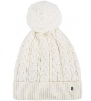 Вязаная шапка с помпоном Tommy Hilfiger. Цвет: молочный