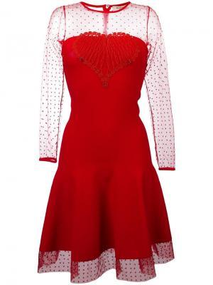 Расклешенное платье Piccione.Piccione. Цвет: красный
